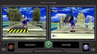 Sonic Adventure (Dreamcast vs Gamecube) Side by Side Comparison