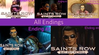 "Saints Row IV: ""Gat Out of Hell"" - All Endings Cutscenes Movie {PS4, Full 1080p HD}"
