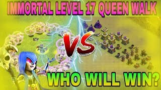 IMMORTAL LEVEL 17 QUEEN WALK WITH 15 LEVEL 4 HEALERS||WHO WILL WIN||CLASH OF CLANS||