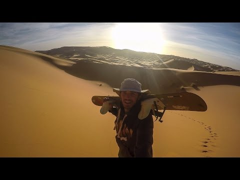 Sandboarding in Taghit
