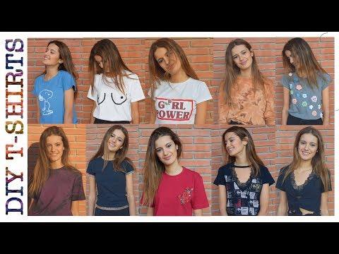 10 DIY para renovar tus CAMISETAS viejas (tumblr, hippy, chic) - DIY 10 summer T-shirts