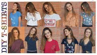 10 DIY para renovar tus CAMISETAS viejas (tumblr, hippy, chic) - DIY 10 summer T-shirts