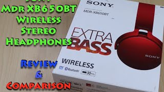 Sony MDR XB650BT Bluetooth Wireless Headphones Review & Unboxing
