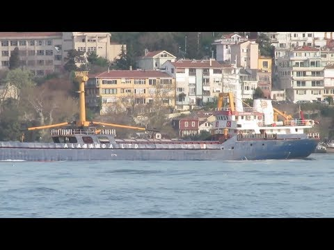 Karadeniz 5 Cargo Ship in the Bosphorus