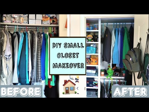 huge selection of b8bb2 ee6e5 DIY Small Closet Makeover! (IKEA Elvarli Assembly)