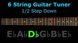 6 string guitar tuner - 1/2 step down