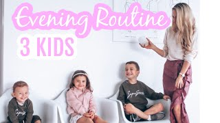 Gambar cover Evening routine with 3 kids (bed by 7!) - Krissy Ropiha