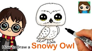 How to Draw Snowy Owl Hedwig | Harry Potter