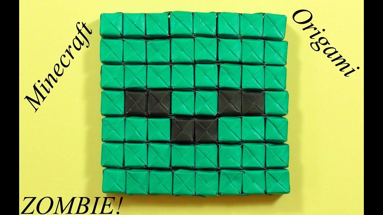 sonobe minecraft origami zombie face youtube