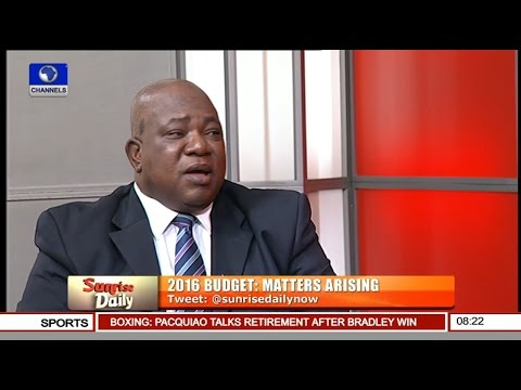 Babatunde Ogala Speaks On Budget 2016 Pt.2