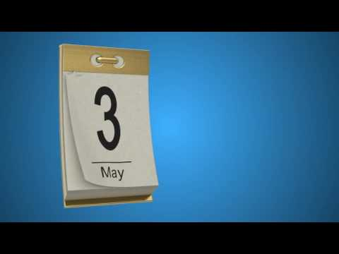 Calendar With Page Tear Off Universal Date Counter After Effects Template