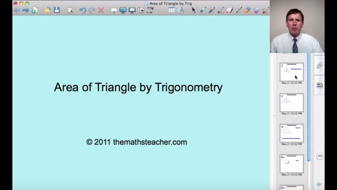 Area Of Triangle By Trigonometry: Gcse & Alevel Maths