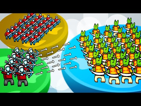 MULTIPLAYER Defense Of Our Kingdom From a HUGE INVASION Of Goblins in Circle Empires Rivals! |
