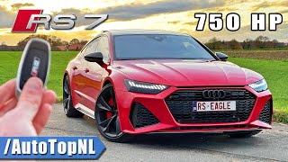750HP AUDI RS7 C8 *332KMH* REVIEW on AUTOBAHN [NO SPEED LIMIT] by AutoTopNL