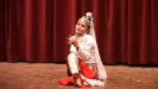 One Lage Dancer Roma Neupane Danicing with One Leg.