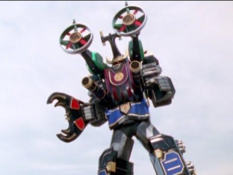 Power Rangers Ninja Storm - Samurai Thunder Megazord - YouTube