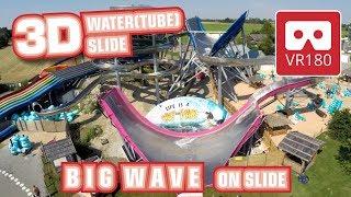 Water Tube Slide VR 180 3D Experience BIG WAVE VR180 POV Therme Galaxy Erding Wasserrutsche scivolo