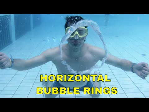How To Make Horizontal Bubble Rings Under Water - Bubble Ring Tutorial