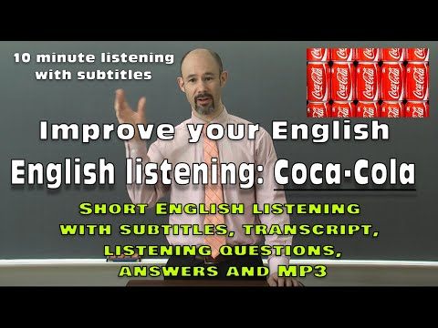 (#44) Coca - Cola - improve your English: subtitles, transcript, questions, answers, MP3 free download