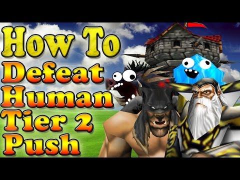 Warcraft 3 - WTii vs Albert #10 How To Defeat Human Tier 2 Push (1v1 #43)