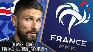 OLIVIER GIROUD APRÈS FRANCE - ISLANDE (2 - 2) / Guingamp - 12 octobre 2018