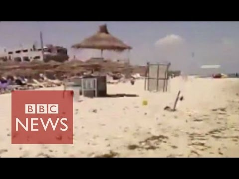 Tunisia: Amateur footage of Sousse attack  - BBC News