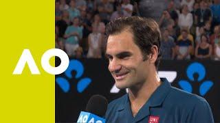 Roger Federer on-court interview (3R) | Australian Open 2019