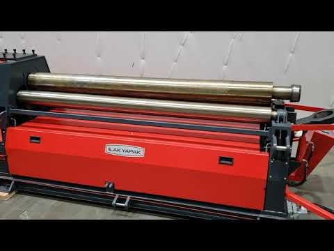 14434,  Akyapak 6′ X 1/4″ Four Roll Plate Roll, Model AHS 20/04 – NEW, Www.vanderzielmachinery.com