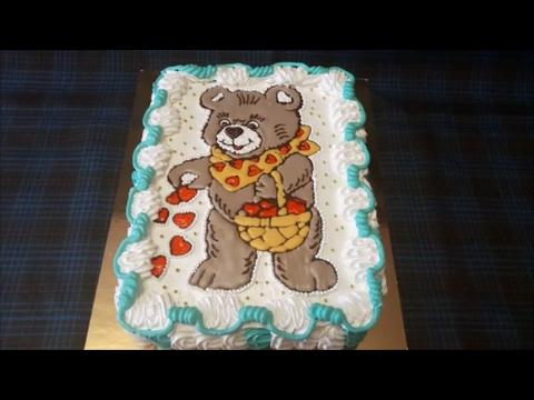 торт мишка торт раскраска украшаем торт кремом шоколадом и декор гелем Cake Decoration