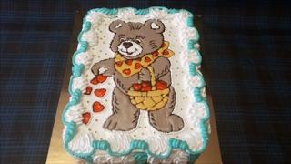 Торт МИШКА Торт-раскраска Украшаем торт кремом,шоколадом и декор гелем Cake decoration