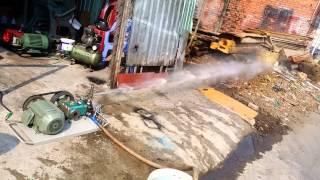 Máy rửa xe siêu áp, moter hitachi 1.5kw đầu italia
