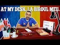My desk. Biroul meu. | Learn Romanian Language Vocabulary Lesson