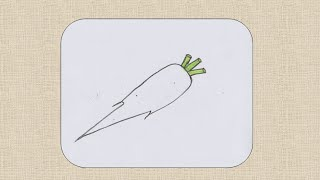 How to draw a Radish for kids
