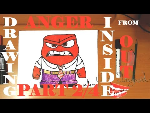 How to Draw ANGER from Inside Out Step by Step Easy for kids