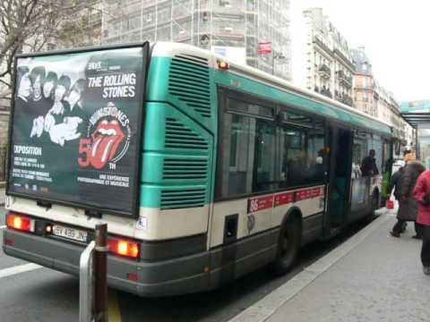 Irisbus Agora S 2 ptes RATP ligne 86 Rue des Ecoles 2013 ...
