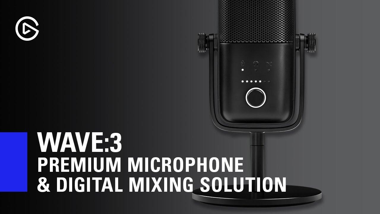 Elgato Wave:3 Mikrofon og Mixer Mikrofon KomplettBedrift.no