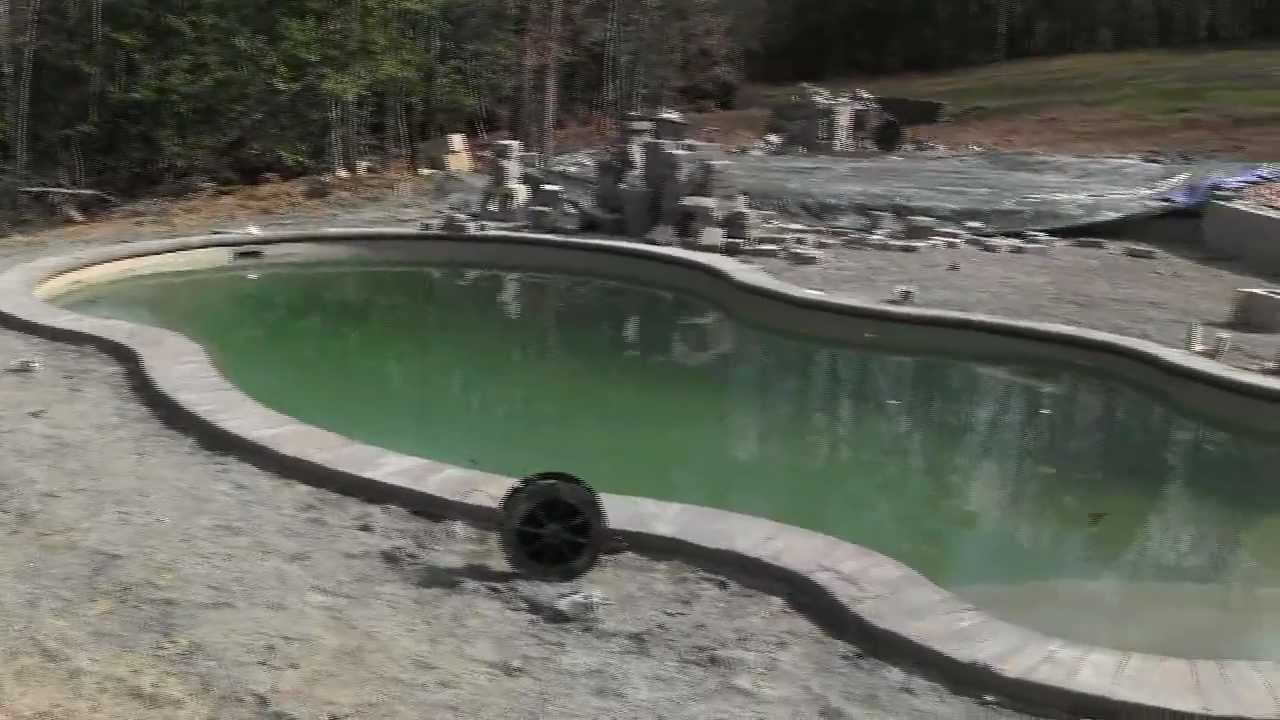 Precast swinging pools