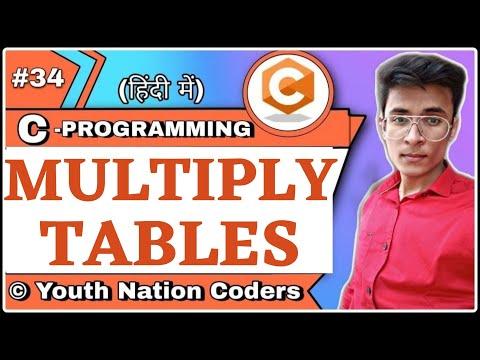 C Program To Print Multiplication Table   C   Program   Hindi   Urdu   YNC