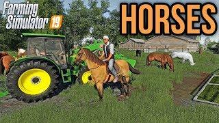 LONE OAK 19 | Horses! | Farming Simulator 19