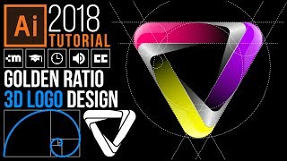 Golden Ratio 3D Logo Design - Adobe Illustrator CC 2018 - Tutorial for Beginners