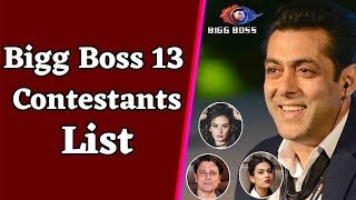 BIGG BOSS 13 CONTESTANTS NAME LIST 2019 WITH PHOTO CELEBRITY