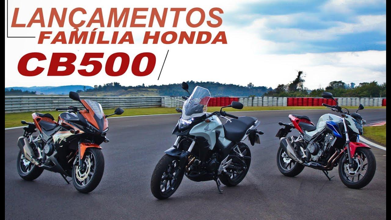 Lan U00e7amento Fam U00edlia Honda Cb 500 - Moto Com Br