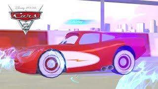 Jogo Carros 2 com Relâmpago Mcqueen Radiator Springs