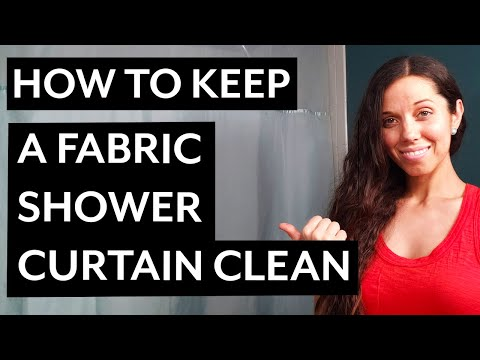How to Keep a Fabric Shower Curtain Clean