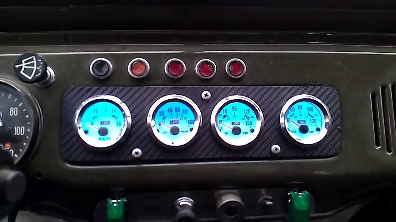 УАЗ 469 с мотором ОМ 603. Салон. - YouTube