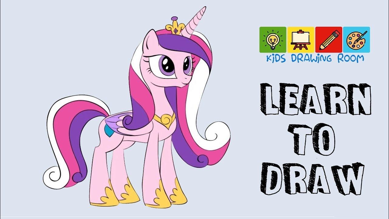 How To Draw Princess Cadence - YouTube