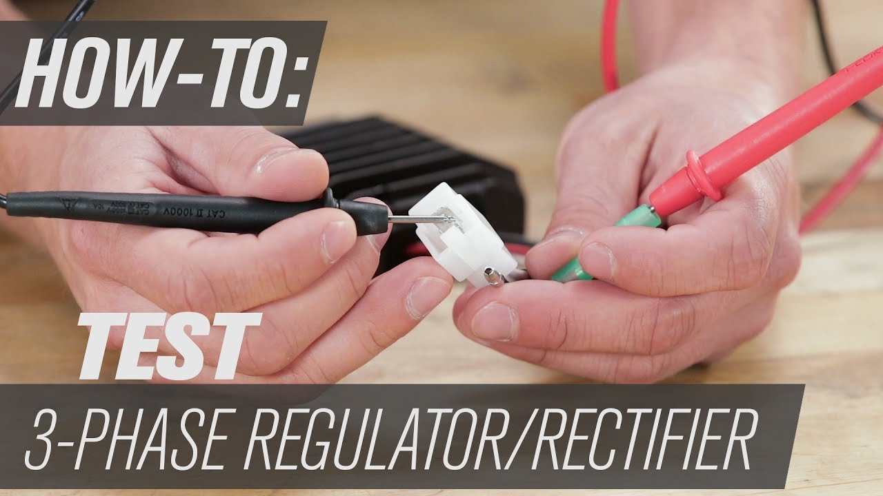 How To Test A 3 Phase Regulator  Rectifier  YouTube