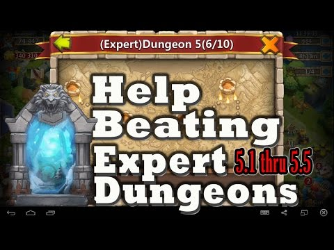 Castle Clash-How To Beat Expert Dungeons 5 (1-5)