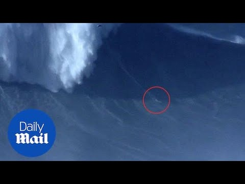 Surfer breaks biggest wave surfed world record - Daily Mail
