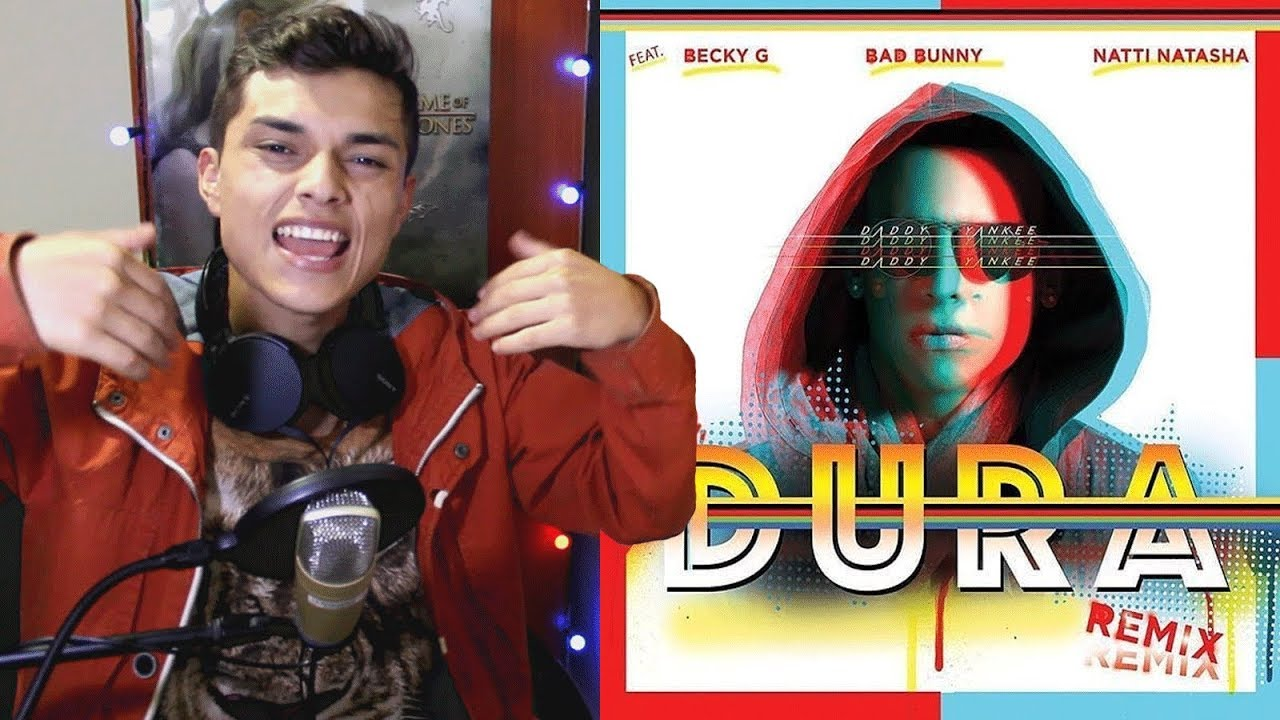 Daddy Yankee Dura Remix Ft Bad Bunny Natti Natasha Becky G Lyric Video Reaccion